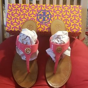 "Tory burch leather ""Thora"" sandals. Size 8"